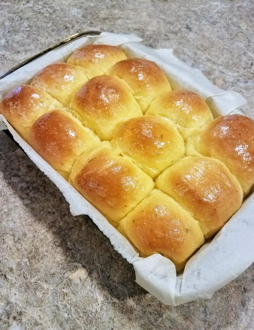 Rosemary Sea Salt Sweet Potato Rolls