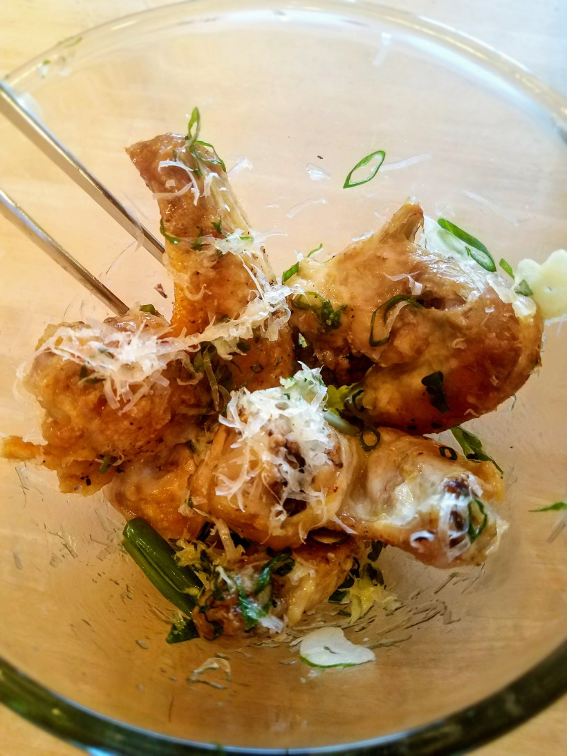 Scallion and Parmesan Wings