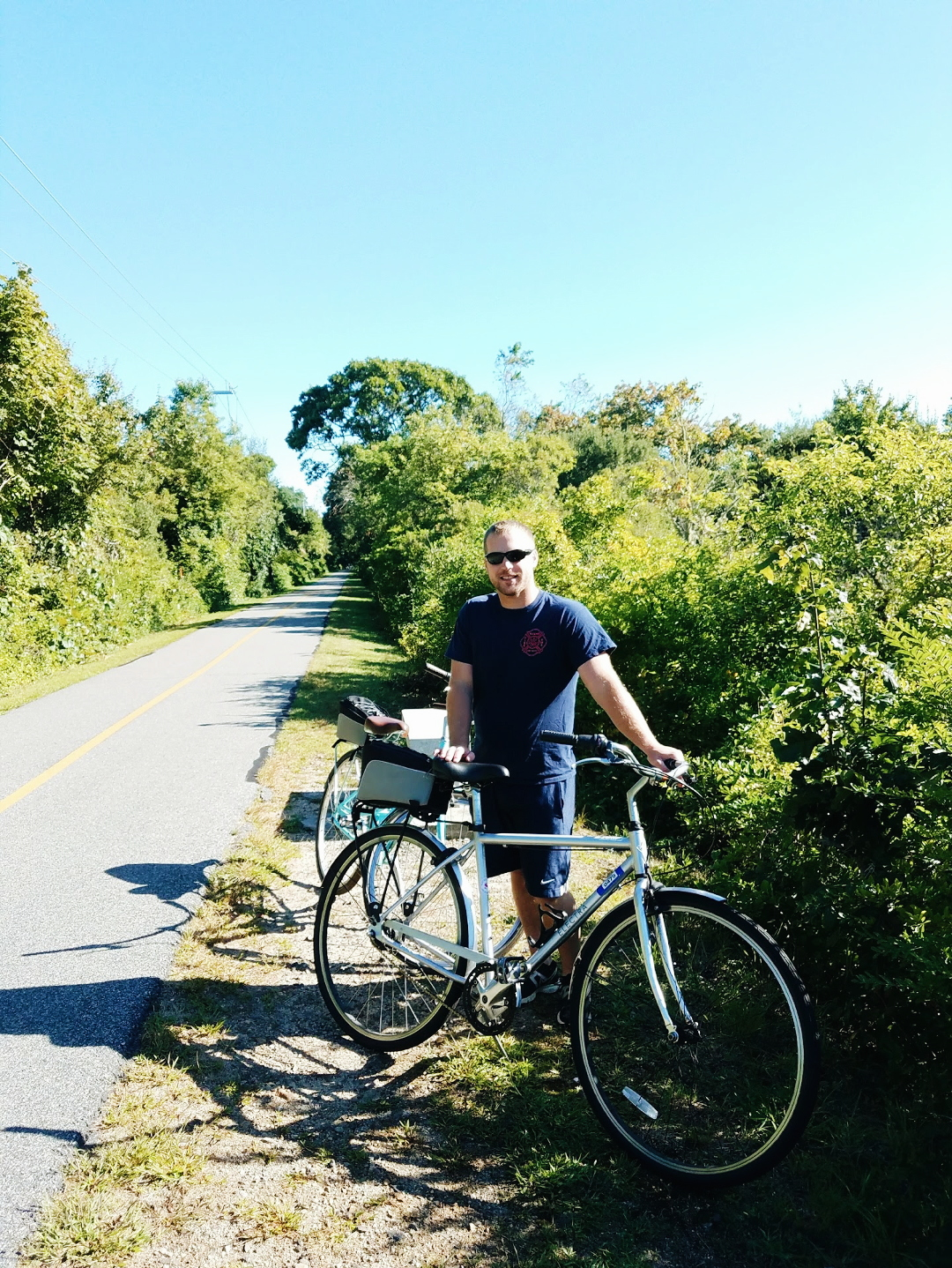 Lance on the bike path in Falmouth Cape Cod