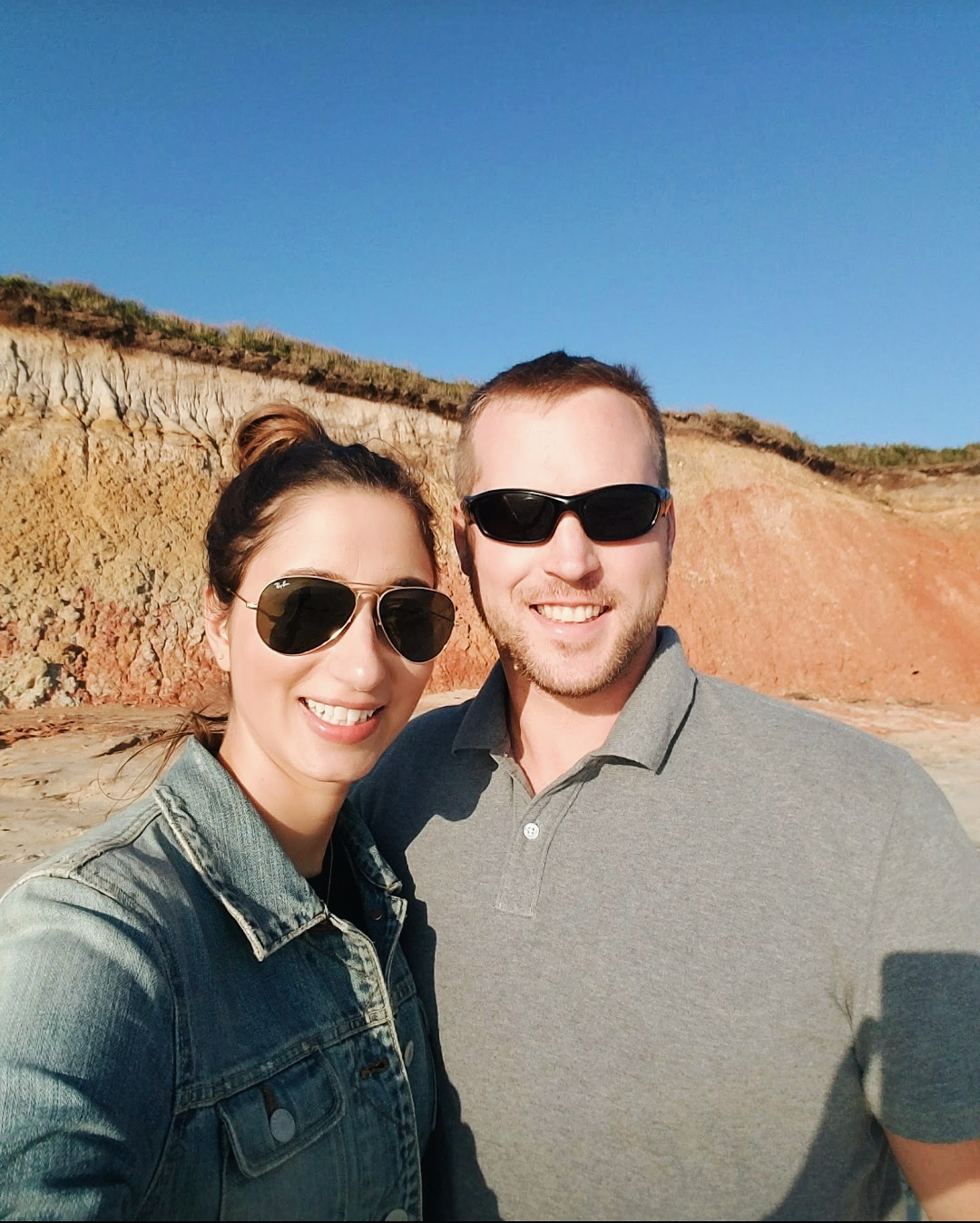 Lance and I at Aquinnah Cliffs in Martha's Vineyard