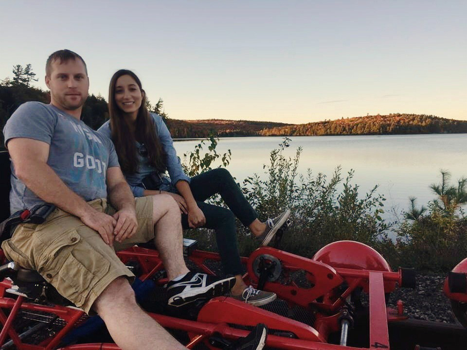 Lance and me on the Rail Trail in Lake Clear, New York in October 2016