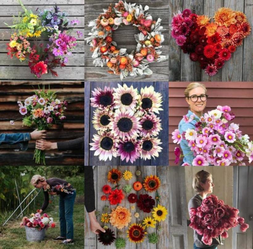 Bouquets of flowers from Little Farmhouse Flowers