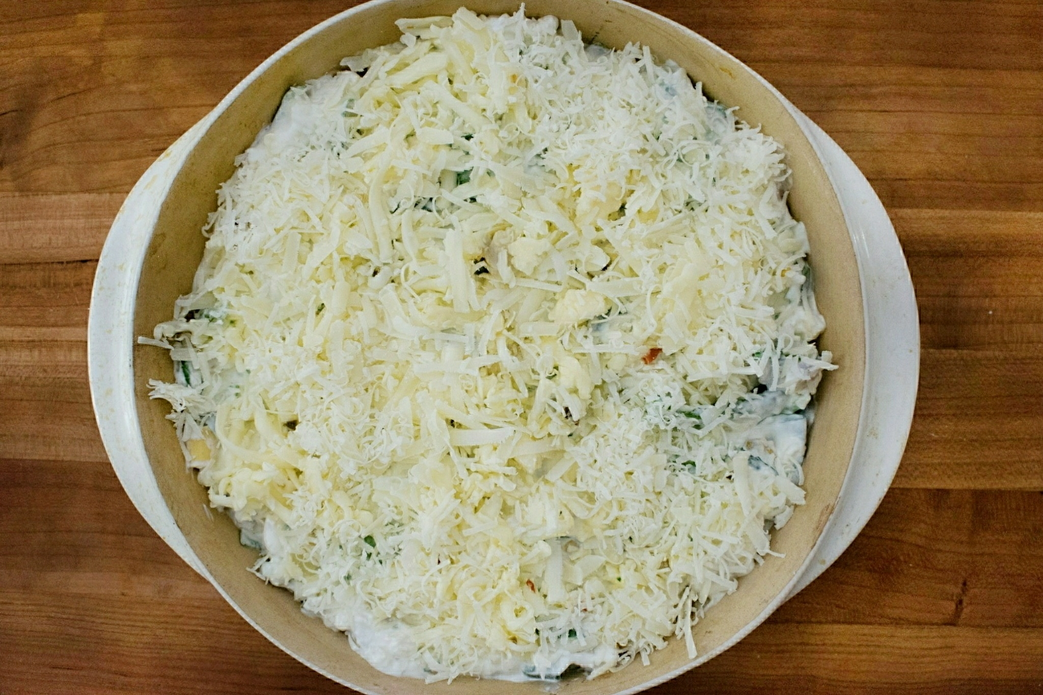 Spinach Artichoke Dip with Parmesan and Pepper Jack Cheeses