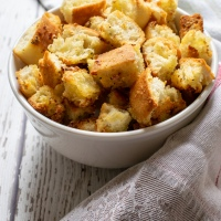 Parmesan and Garlic Croutons