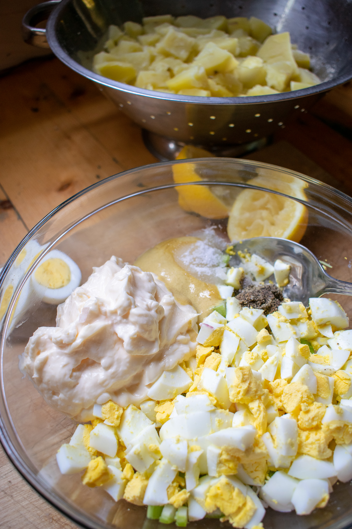 Traditional Creamy Potato Salad is the perfect crowd pleaser for your summer BBQ or pot luck! ashleyspaige.com
